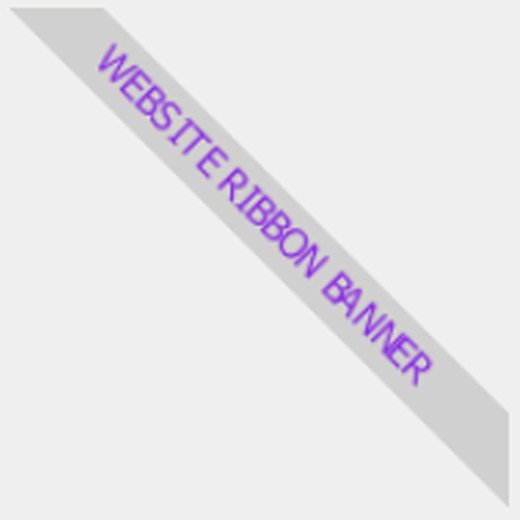 Website Ribbon Diagonal Banner